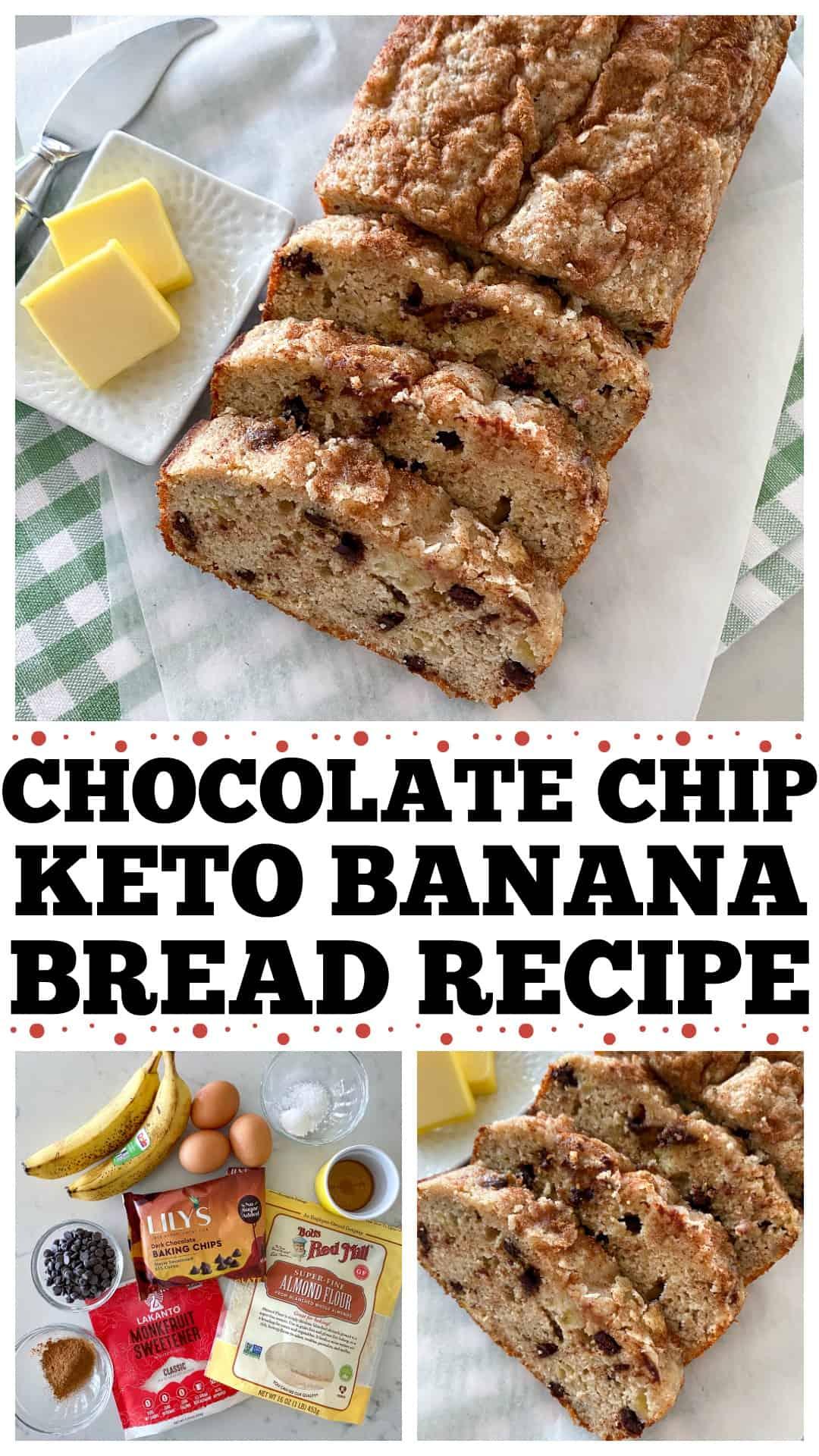keto banana bread Pin for Pinterest