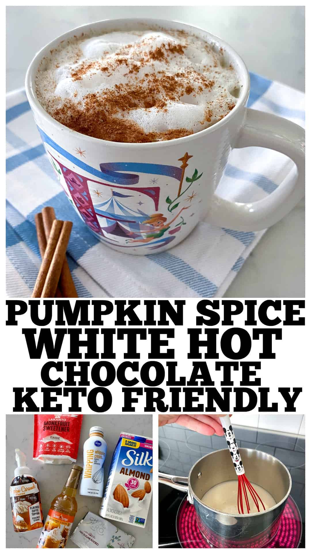 pin for pinterest of keto hot chocolate