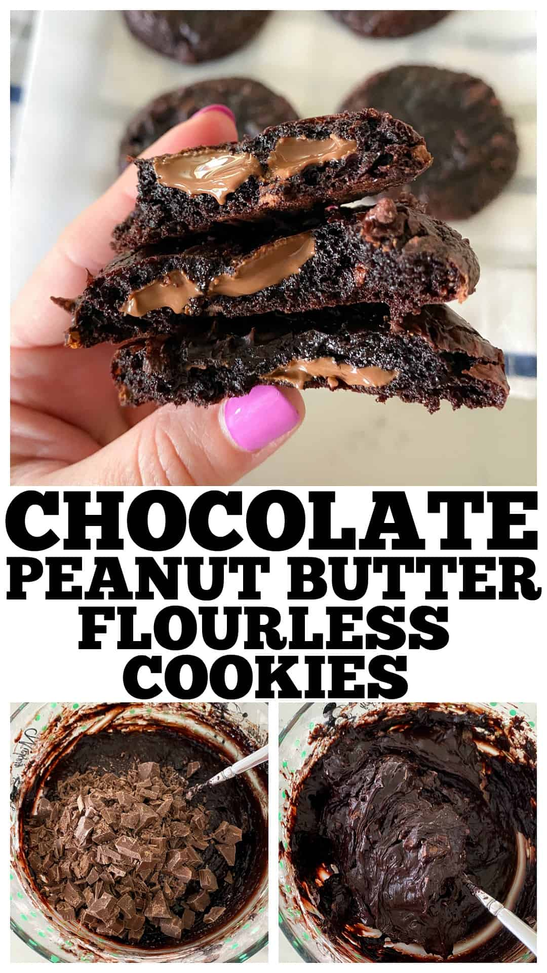 pin for flourless cookies