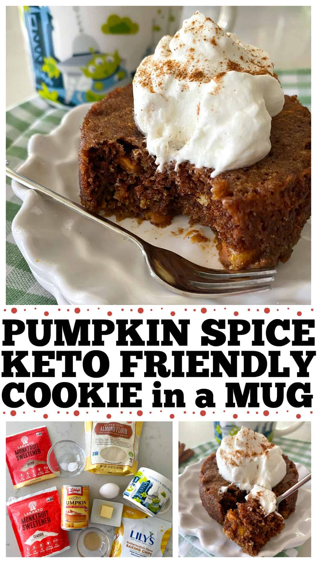 Pumpkin Spice Keto Cookie In A Mug Picky Palate