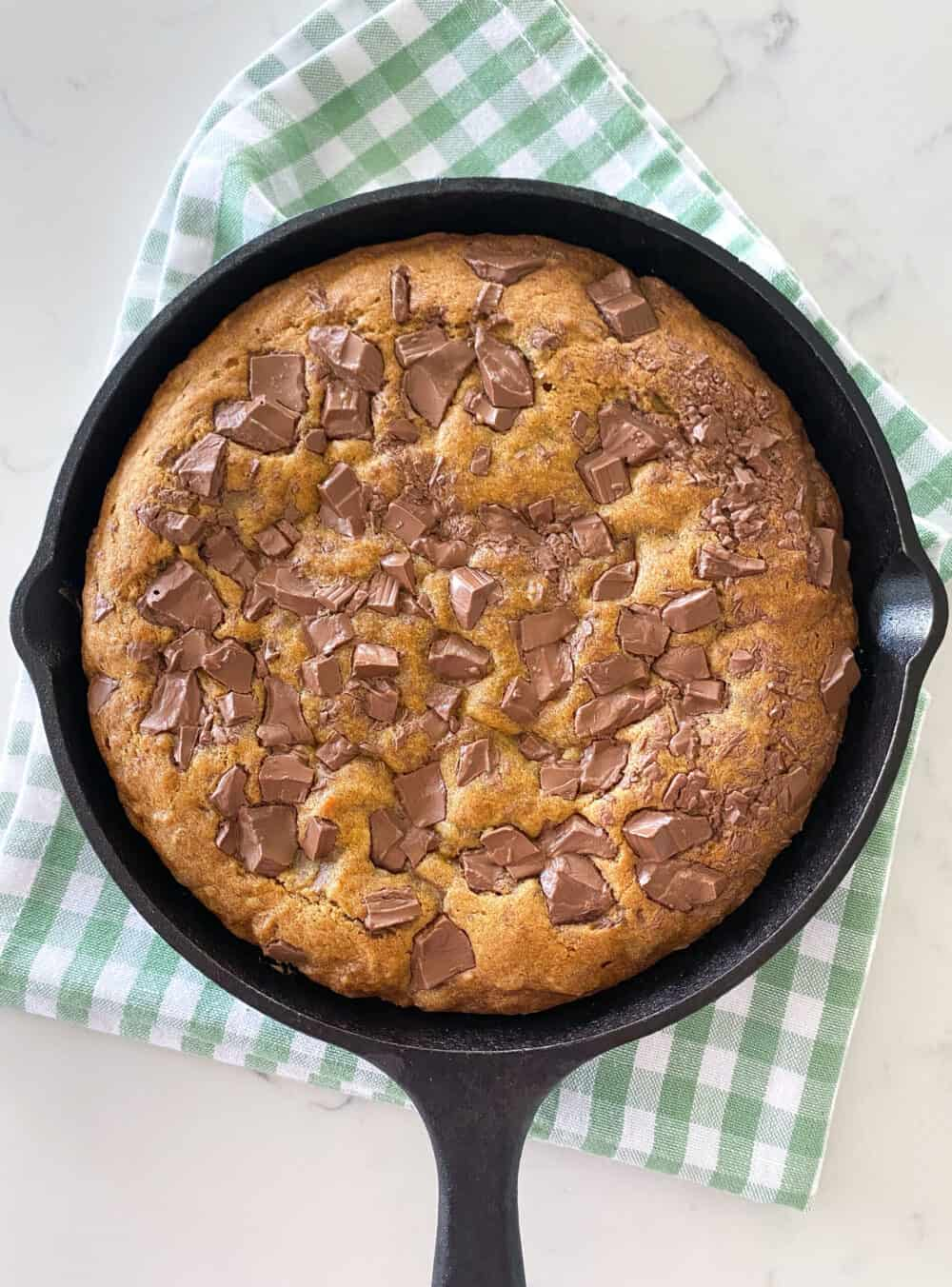 baked skillet cookie