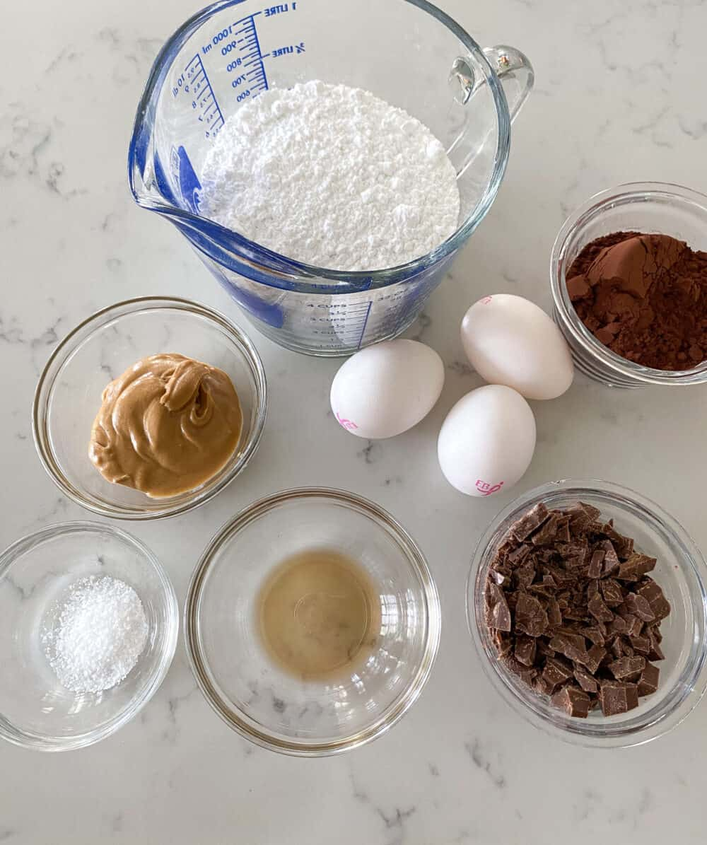 ingredients for flourless cookies