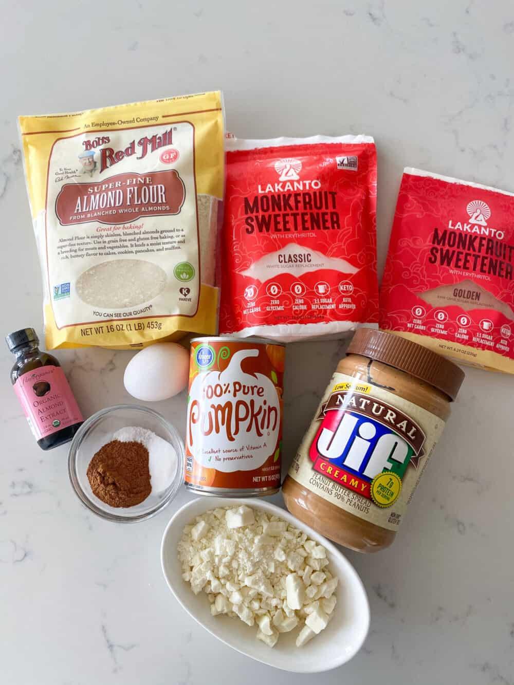 ingredients for pumpkin blondies