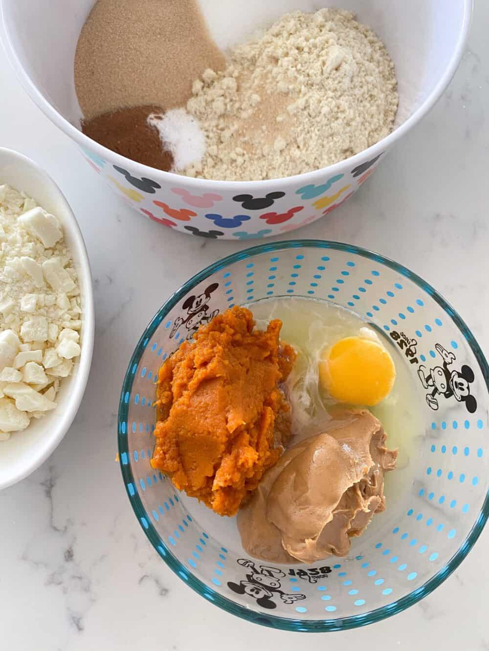 wet ingredients for blondies
