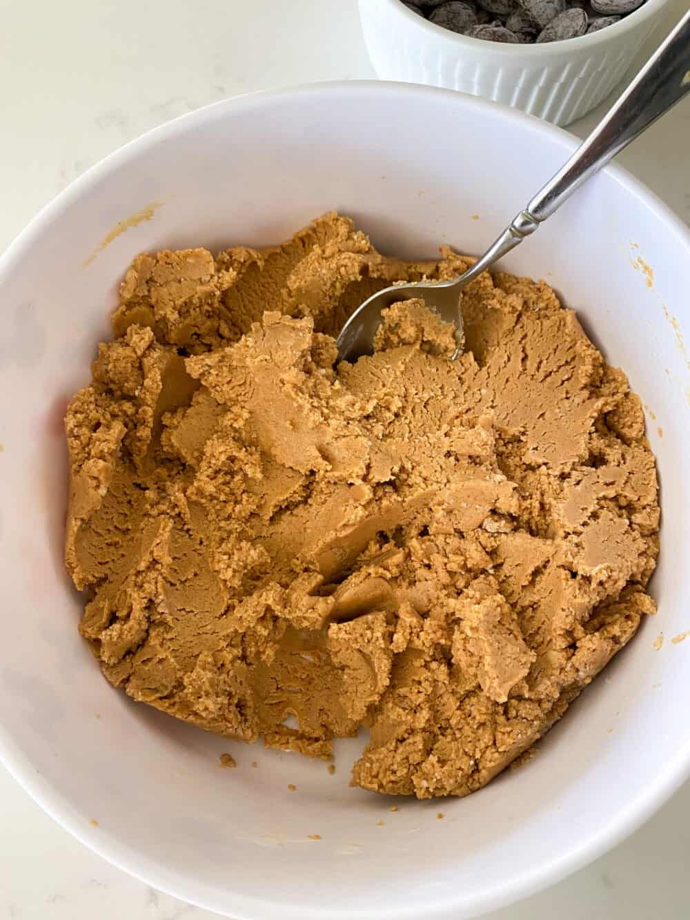 no bake peanut butter bars dough