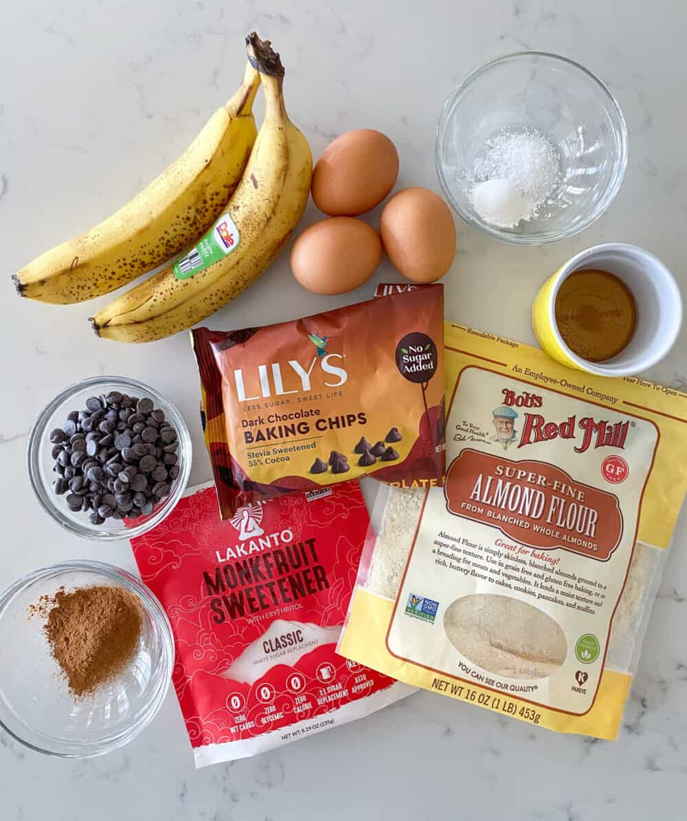 Keto banana bread ingredients