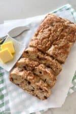 sliced keto banana bread