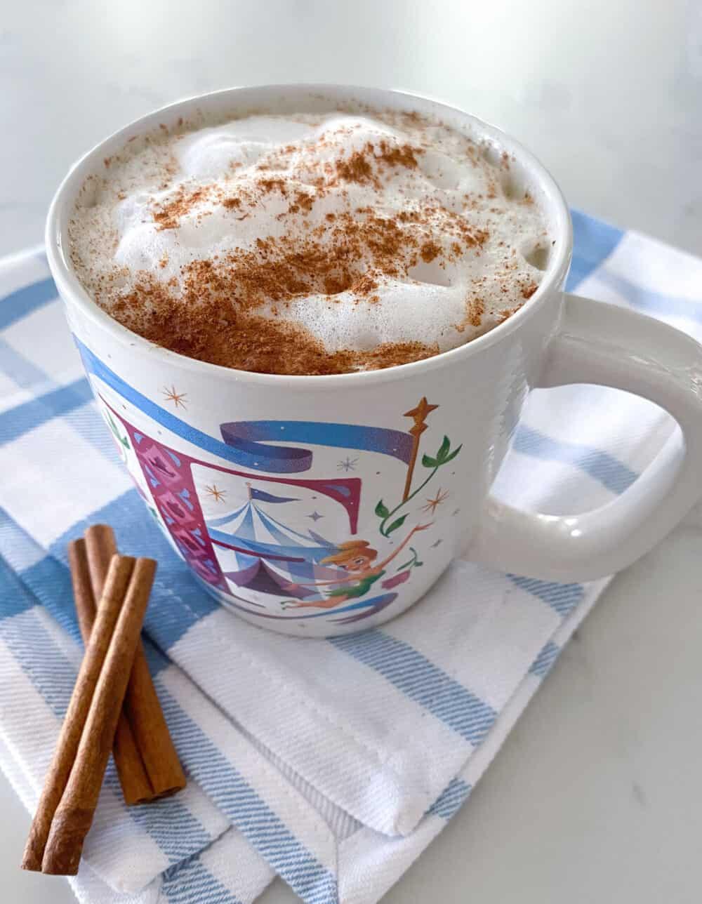 finished photo of keto hot chocolate