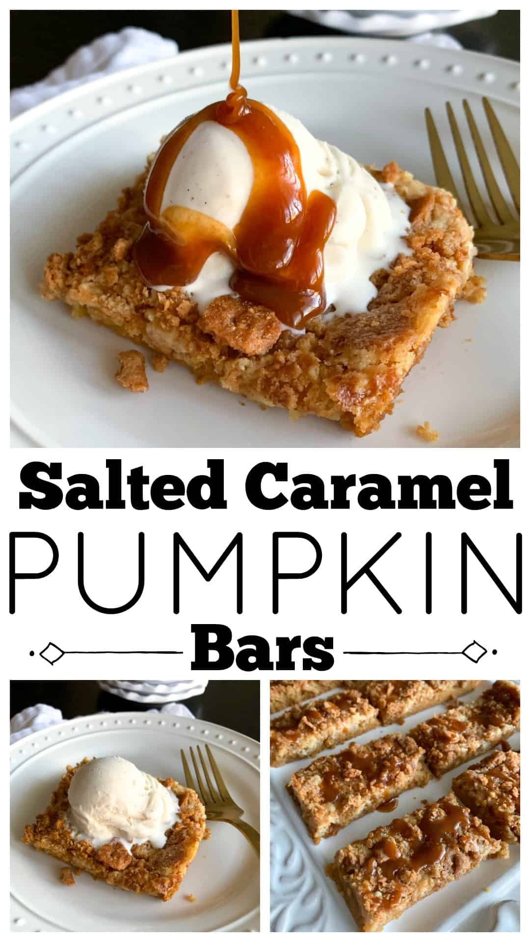 pumpkin bars photo collage