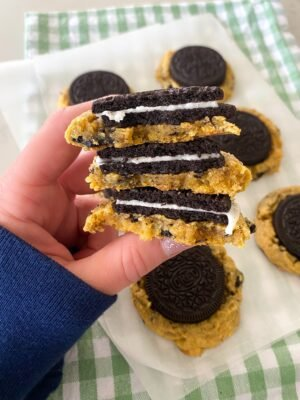baked cookies and cream cookies