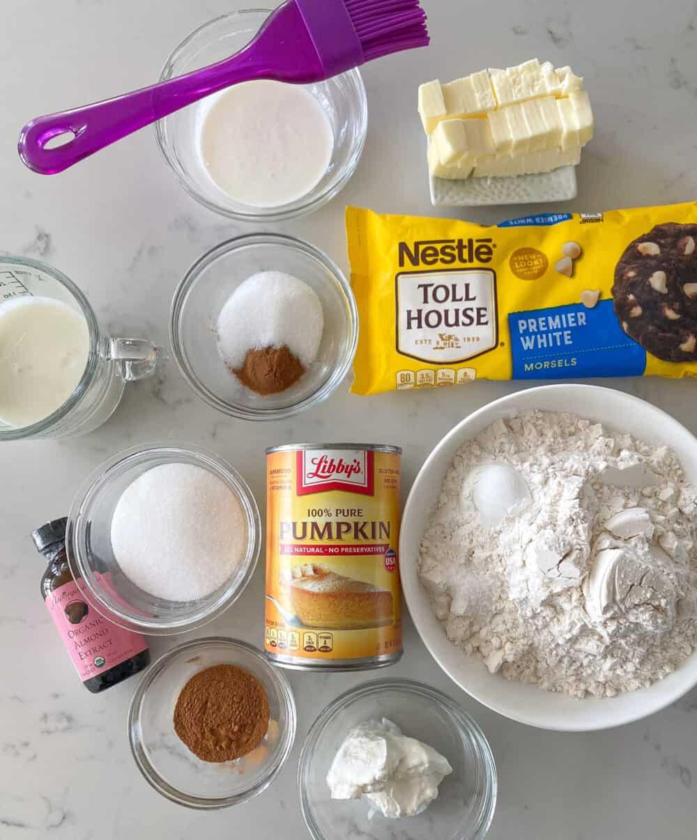 pumpkin scones ingredients