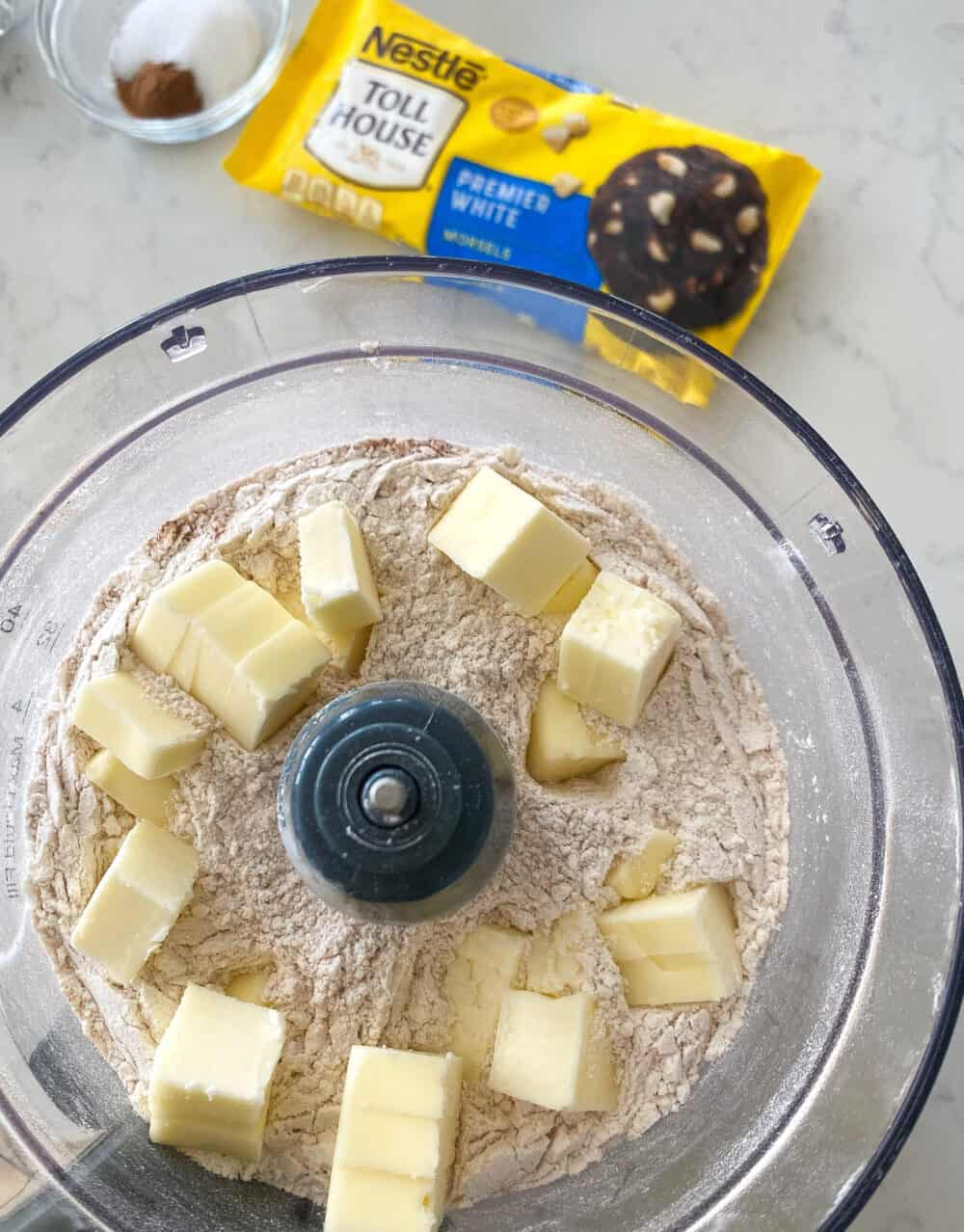 added cold butter to food processor for pumpkin scones recipe