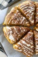 baked pumpkin scones