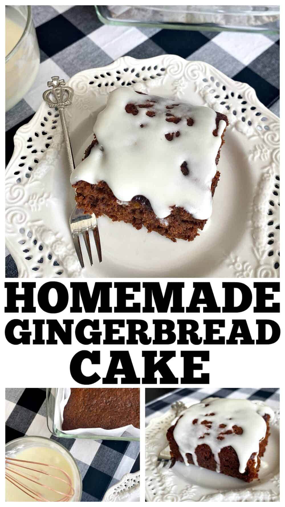 photo collage of gingerbread cake