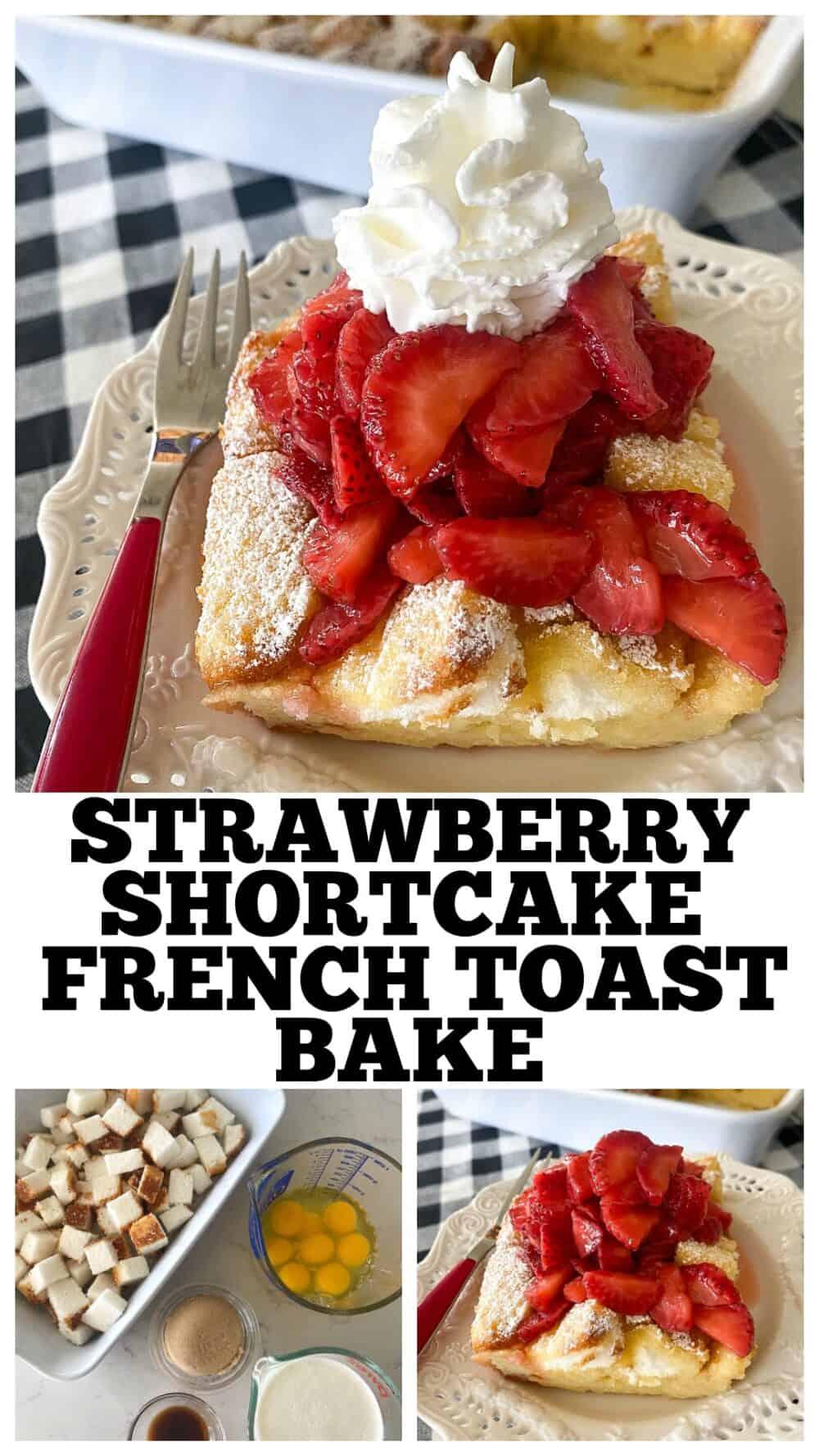 photo collage strawberry shortcake
