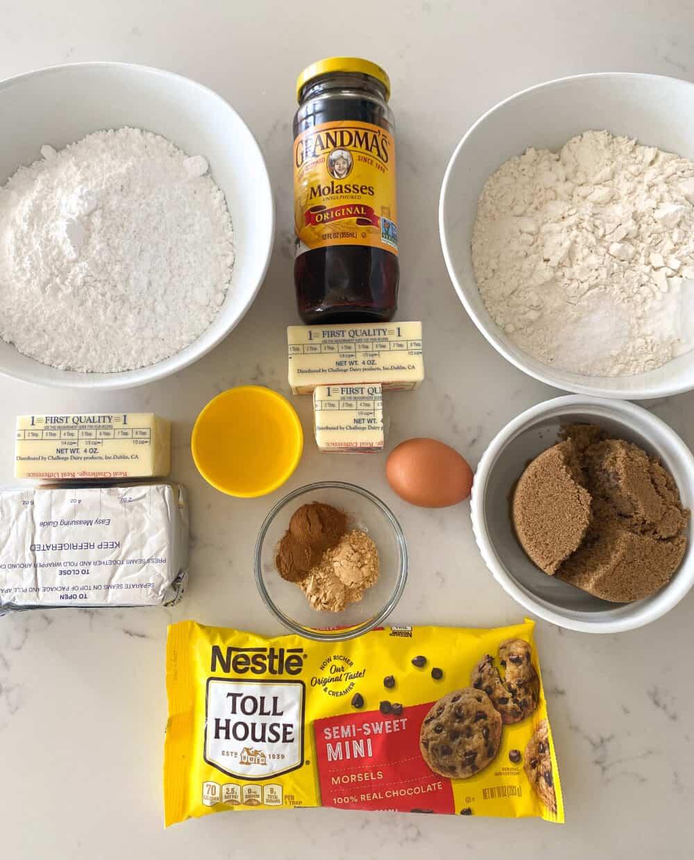 ingredients for gingerbread bars
