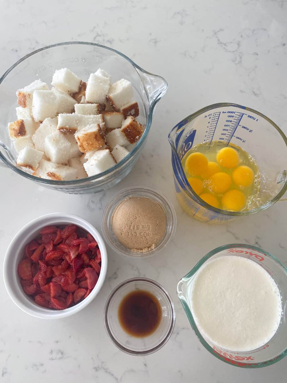 ingredients for strawberry shortcake