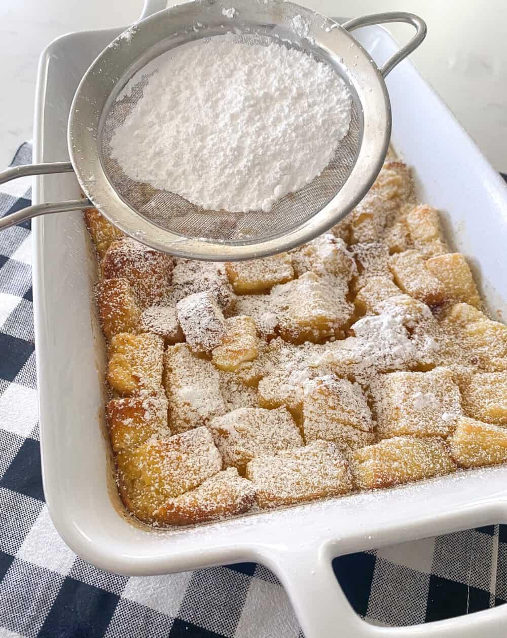 baked strawberry shortcake french toast