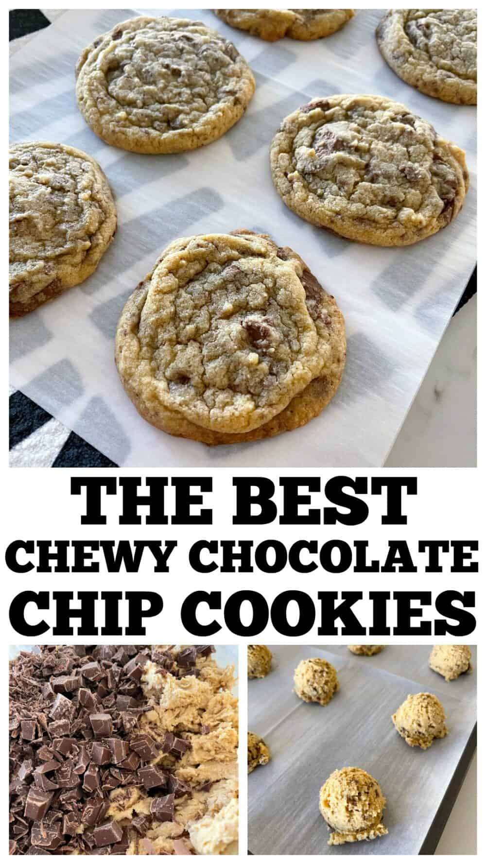 photo collage chewy chocolate chip cookies