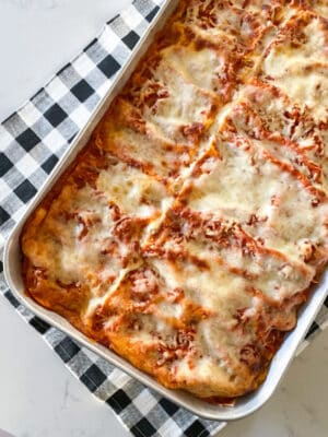 easy lasagna recipe in baking dish