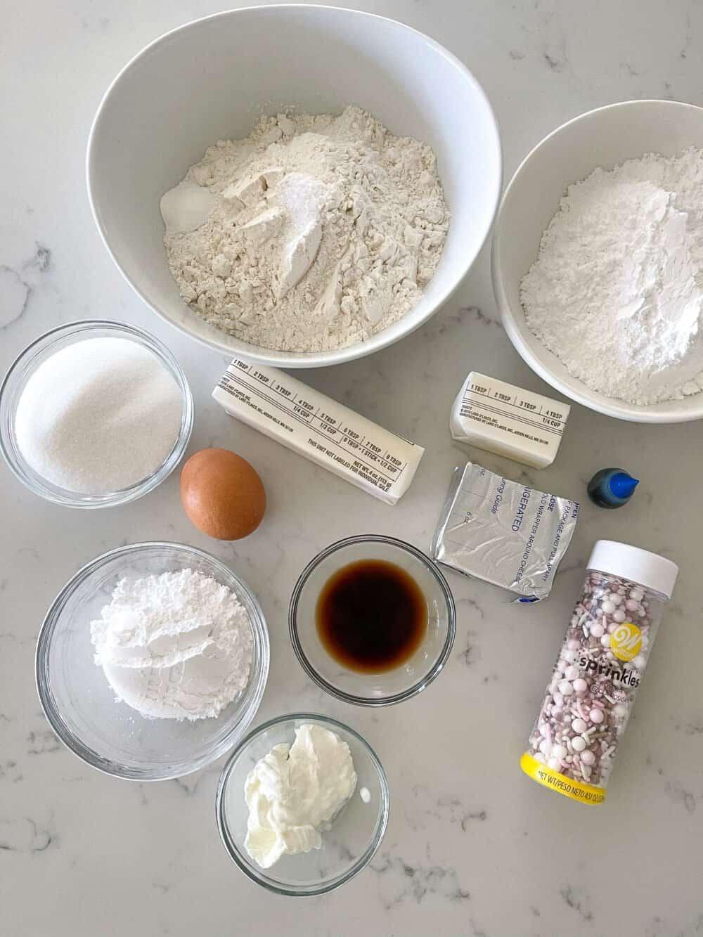 sugar cookie bars ingredients