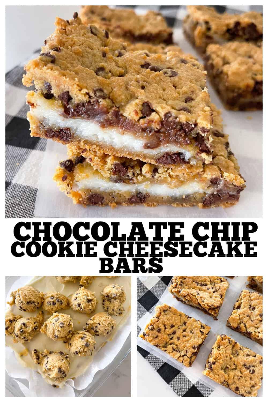 photo collage cheesecake bars