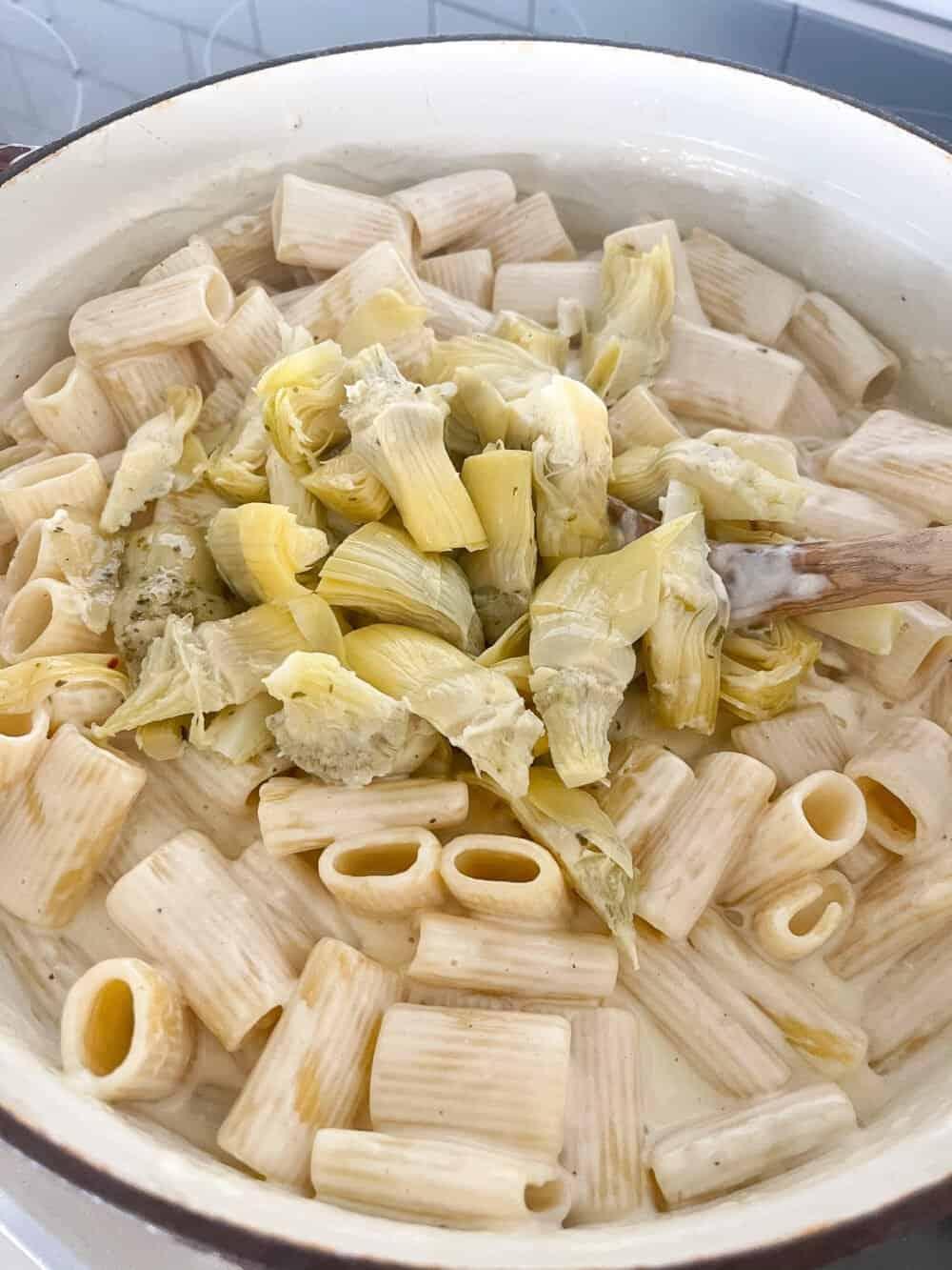 artichokes in pasta