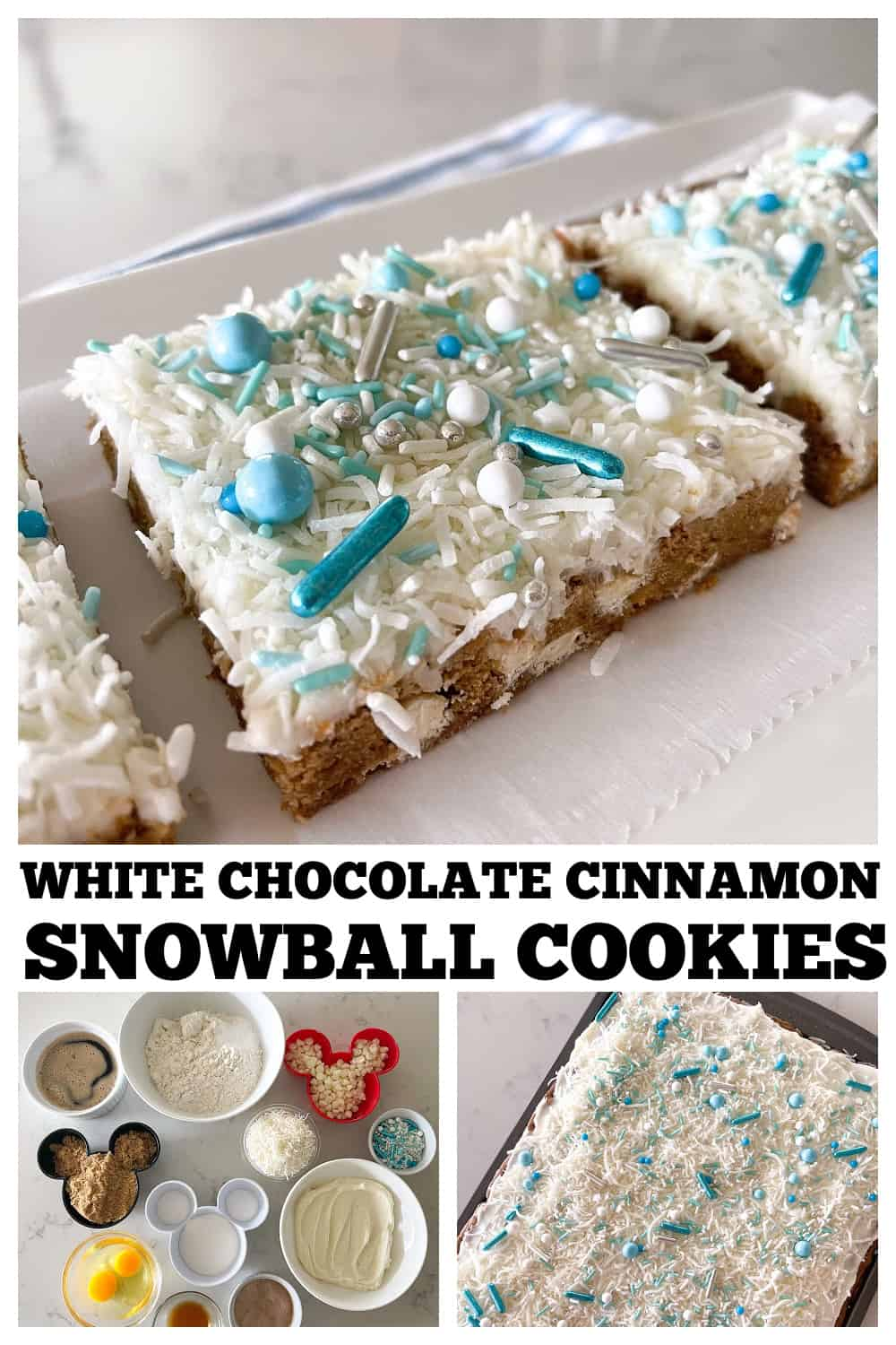 photo collage snowball cookies