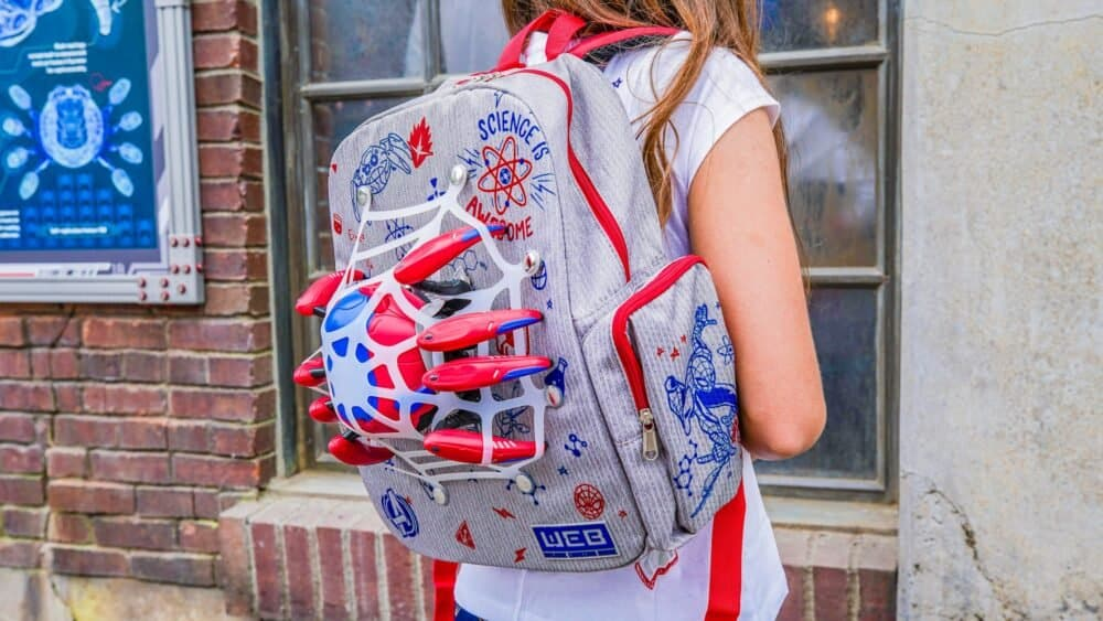 spider bot backpack from avengers campus