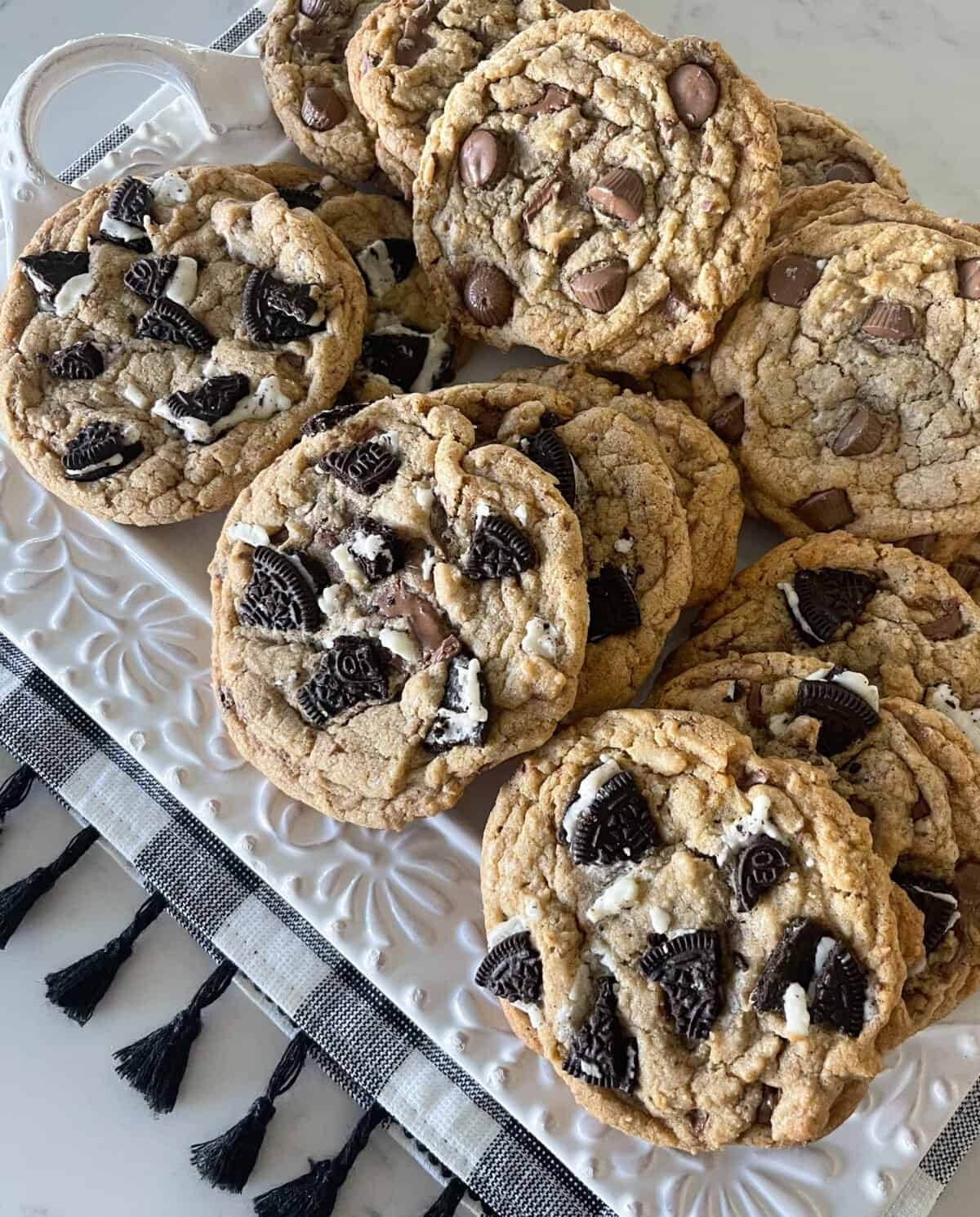brown butter oreo cookie recipe on plate