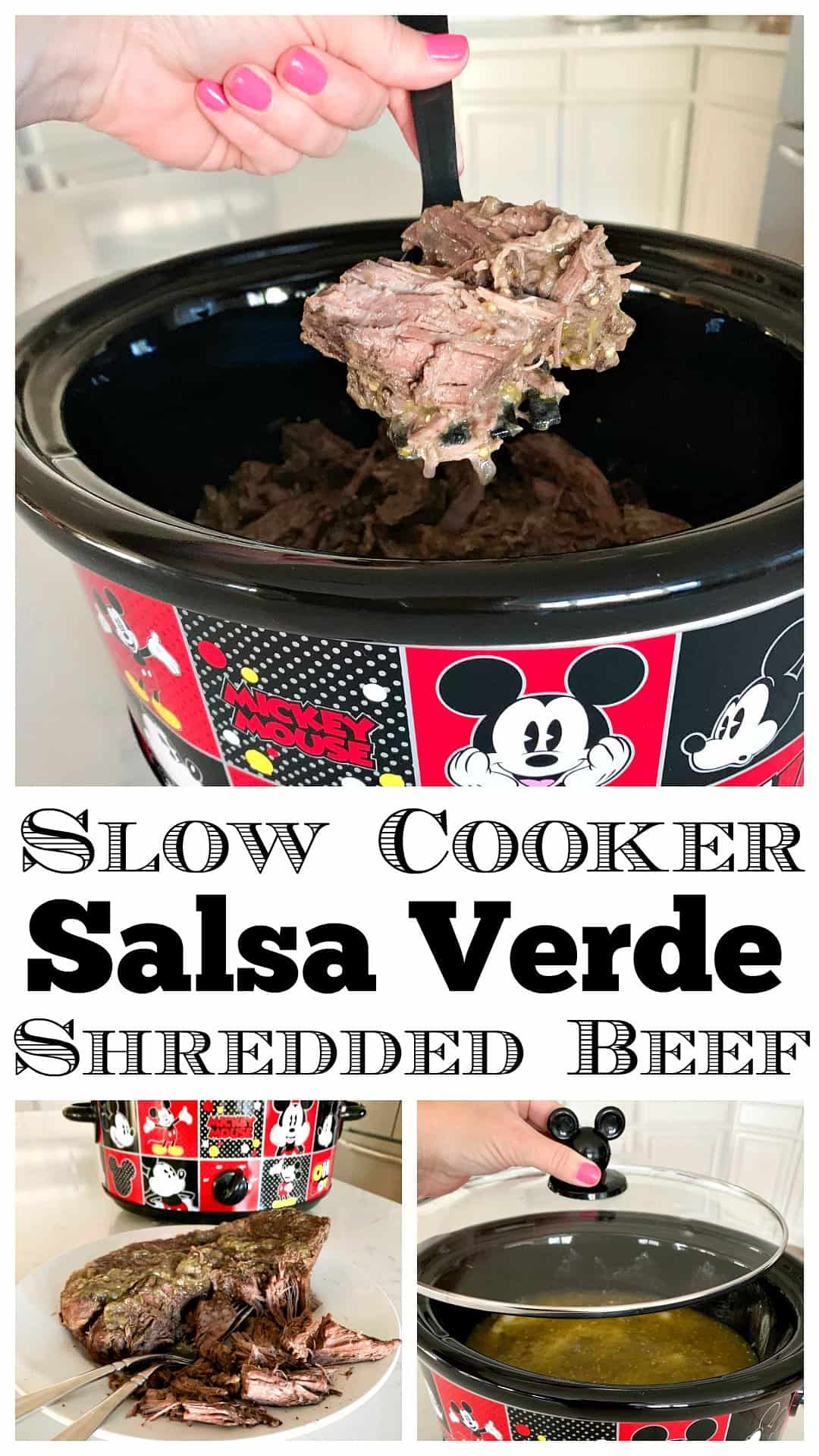 photo collage shredded beef recipe